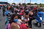 Migrantes venezolanos en la zona de frontera