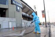 Aunque no hay fútbol, embellecen el estadio El Campín