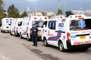 Caravana de ambulancias en Bogotá