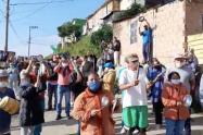 Protestas en Ciudad Bolívar en aislamiento