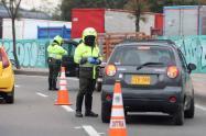 Retén de Policía en Bogotá