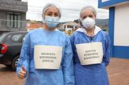 Médicos en Cundinamarca que hacen seguimiento a casos de coronavirus.