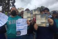 Bloqueos y protestas en el sur de Bogotá por incremento de tarifas en servicios públicos