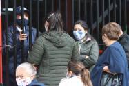 Filas en puntos de vacunación de Bogotá
