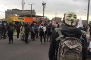 Protestas en la embajada de Estados Unidos en Bogotá