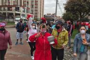 Protestas en Kennedy por falta de alimentos y ayudas durante la cuarentena