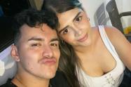 Yeison Jiménez y su esposa