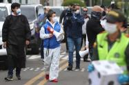 Claudia López recorre barrios en alerta naranja por COVID