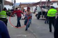Policía dispara a un ciudadano en Tocancipá