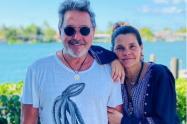 Ricardo Montaner y su esposa