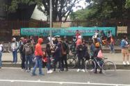 Estudiantes de la Universidad Pedagógica protestan para pedir financiación de matrícula