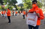 Domiciliarios capacitados en autocuidado y salud en Bogotá