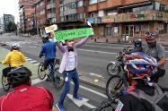 Ciclovía de Bogotá después de cuarentena