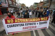 Protestas tras anuncio de cuarentena sectorizada