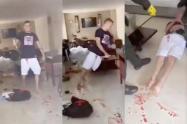 [Video] Hombre apuñaló en repetidas ocasiones a su pareja e intentó matarse