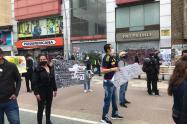 Comerciantes protestan en Bogotá por medidas de la Alcaldía en medio de la pandemia