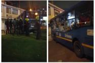 Bus del Sitp secuestrado por vándalos arrolló a mujer en Suba