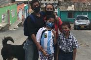 Familia Cruz, beneficiaria de comedor comunitario
