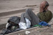 Persona en condición de habitante de calle, en Bogotá.