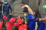 La minga indígena sacó de la protesta a unos ladrones en la Plaza de Bolívar