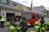 Policía en Soacha
