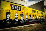 Este era el mural que hace cinco días fue pintado sobre la calle 62 con carrera séptima.