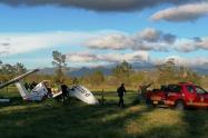 Accidente de avioneta en Cundinamarca