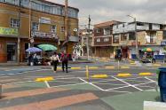 Paso peatonal en glorieta del barrio Inglés