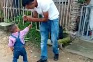 Enseñan a menor de cinco años a pelear y defenderse