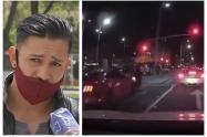 Motociclista arrollado por carro de alta gama en la calle 85