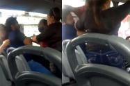 Estaba en el bus con su novia pero se encontró a su esposa y su suegra