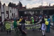 Así avanza la marcha por la marihuana en Bogotá