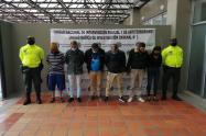 Presuntos integrantes de Candelazo