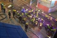 Disturbios en el barrio El Codito, al norte de Bogotá