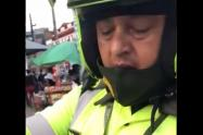Policía le interpuso un comparendo a una mujer