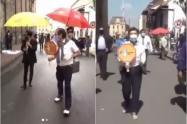 Juanpis González y la mejor parodia del choque de Claudia López con una vendedora ambulante