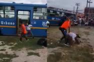 Riñas en Bogotá: Conductor del SITP pelea con ciudadano