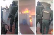 Imágenes de Incendio en CAI San Mateo