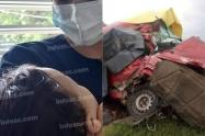 Bebé sobrevive a accidente