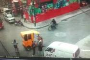 Bogotá: Pelea de conductores en vía pública
