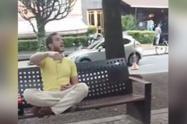 Hombre agrede funcionarios que le reclamaron uso de tapabocas