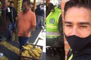 Multan a un hombre por vender bananos en calle de Pereira