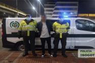 Capturan a delincuente en Bogotá
