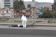 Ciclista muere arrollado