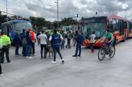 Protesta en la Av. NQS