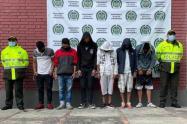 Vándalos capturados en protestas en Cundinamarca
