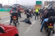 Motociclista arrollado