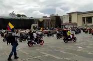 Motociclistas en la Plaza de Bolívar