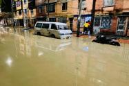 Aguacero caído en Bosa de Bogotá el lunes festivo, se tiró 25 carros