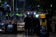 Protestas en Bogotá - Enfrentamientos en Fontibón